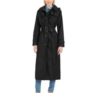 London Fog Maxi trench coat with button liner